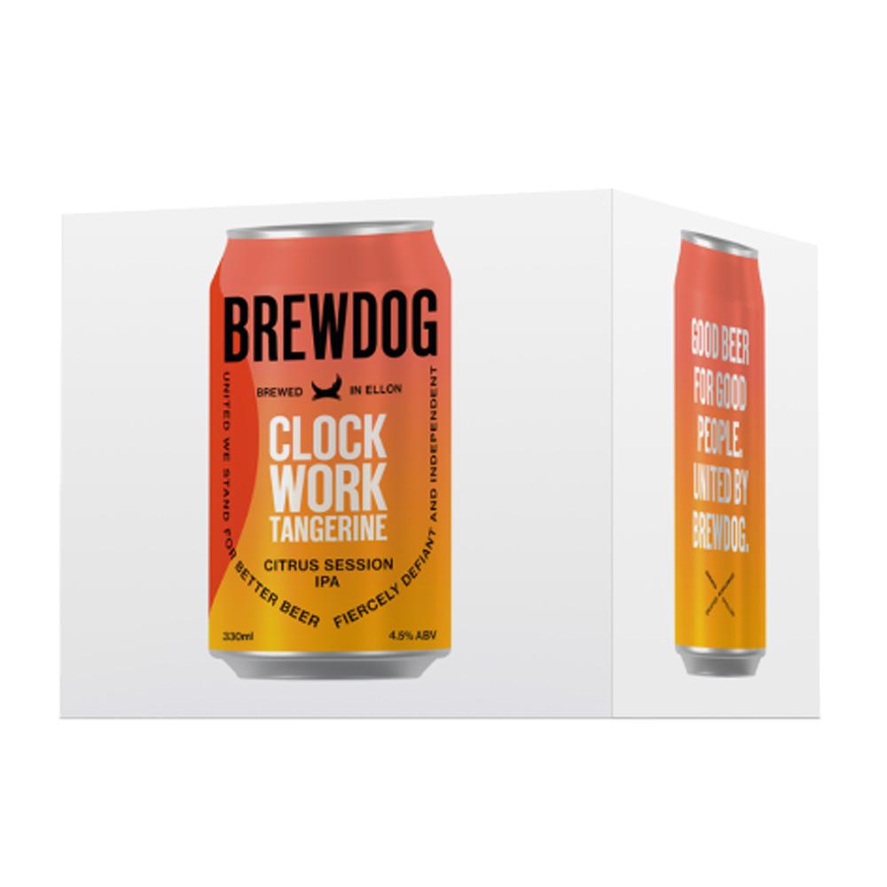 BrewDog Clockwork Tangerine 4-Pack 330ml