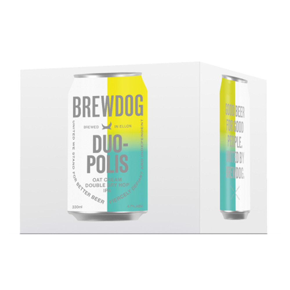 BrewDog Duopolis IPA 4-Pack 330ml