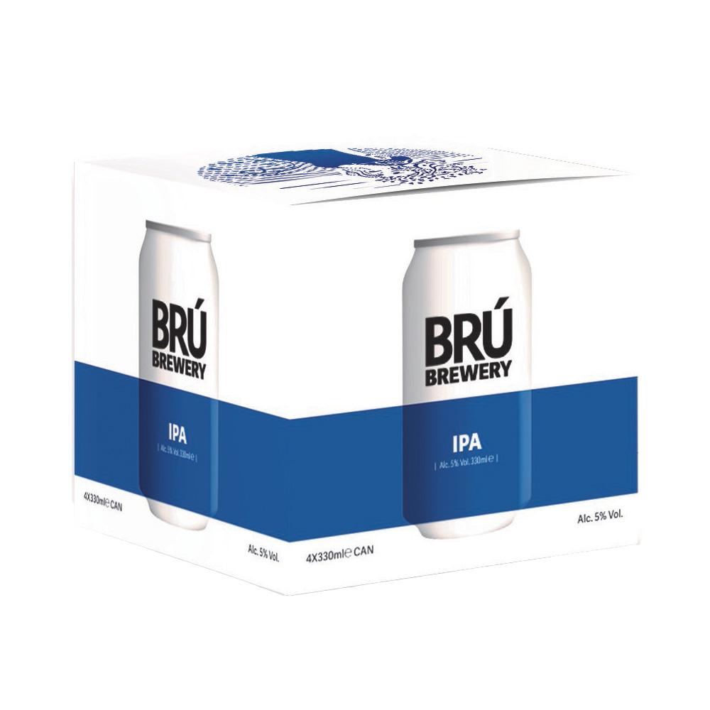 Brú Brewery IPA 4-Pack 330ml