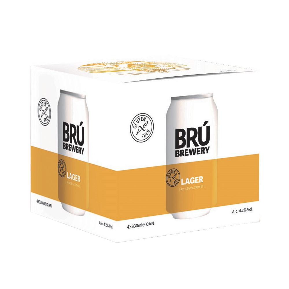 Brú Brewery Lager 4-Pack 330ml