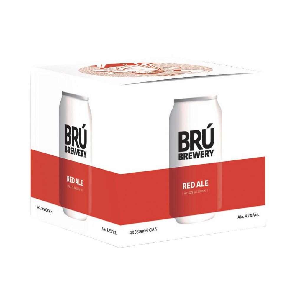 Brú Brewery Red Ale 4-Pack 330ml