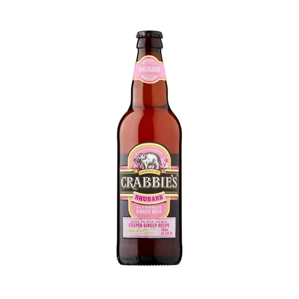 Crabbie's Rhubarb Ginger Beer 500ml
