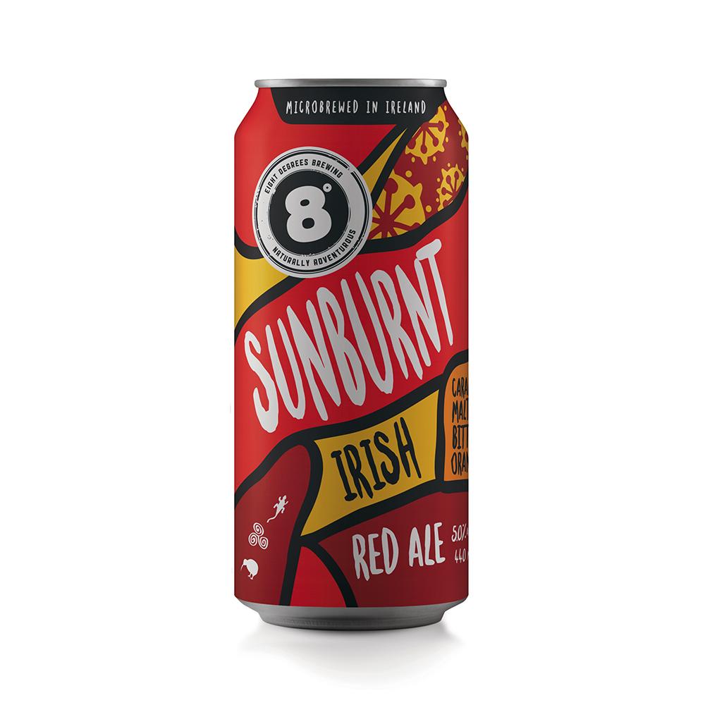 Eight Degrees Sunburnt Irish Red Ale 440ml