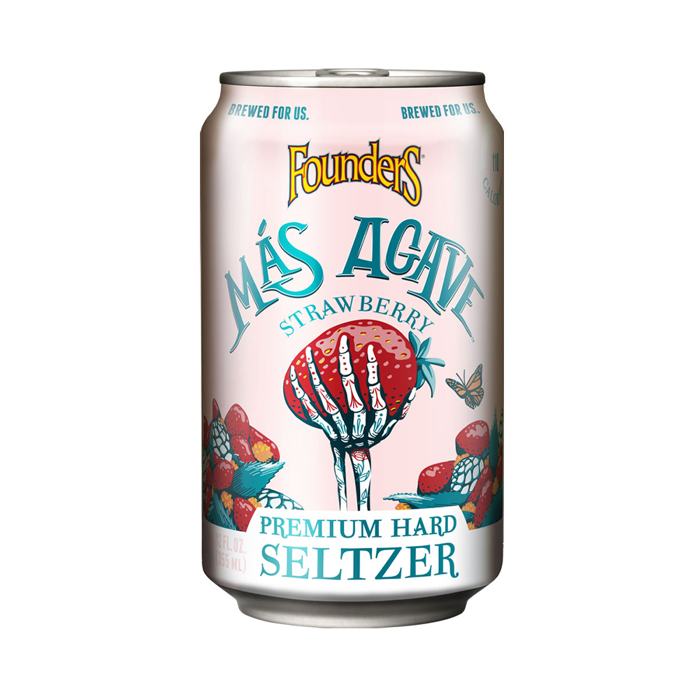 Founders Mas Agave Strawberry Seltzer 330ml