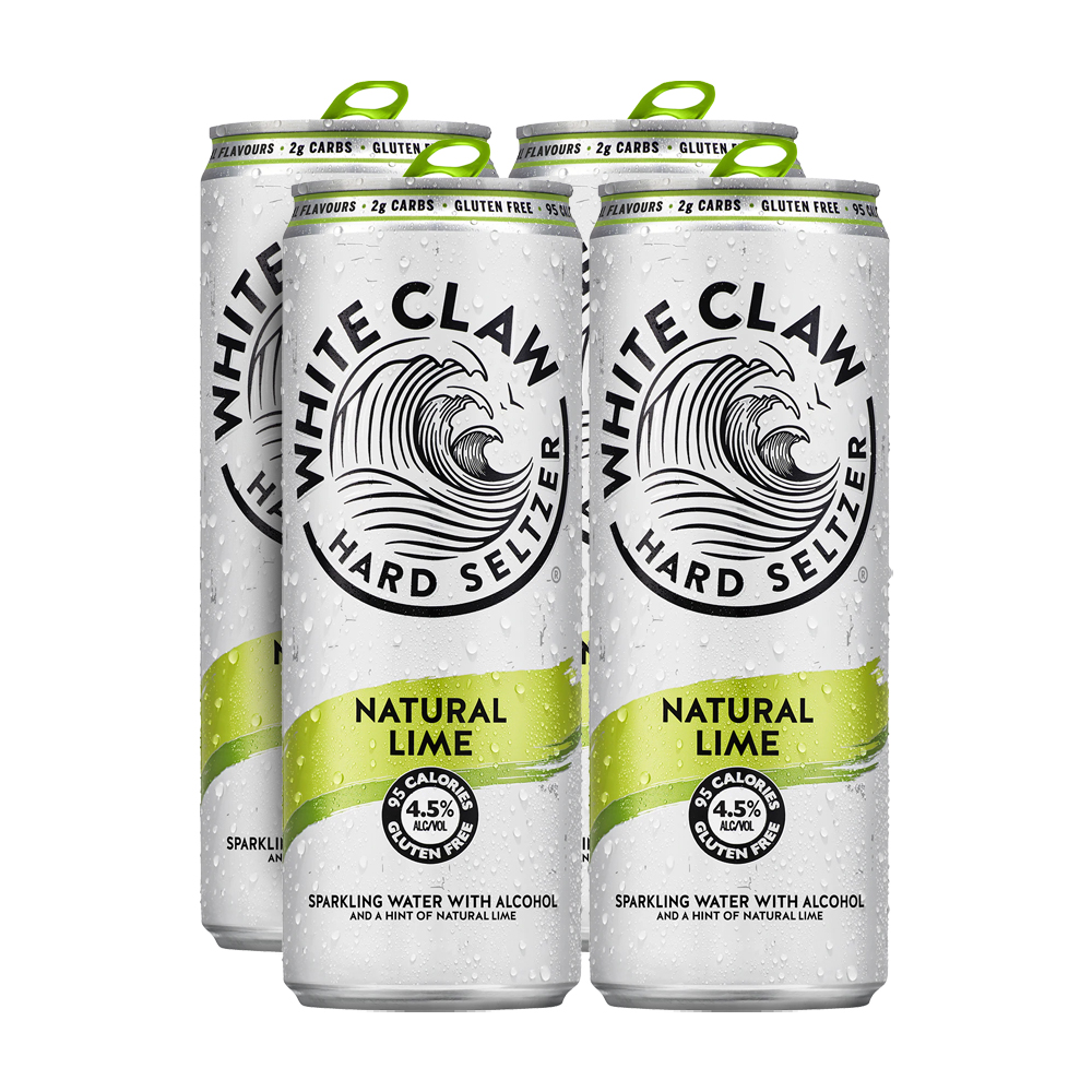 White Claw Natural Lime 4-Pack 330ml