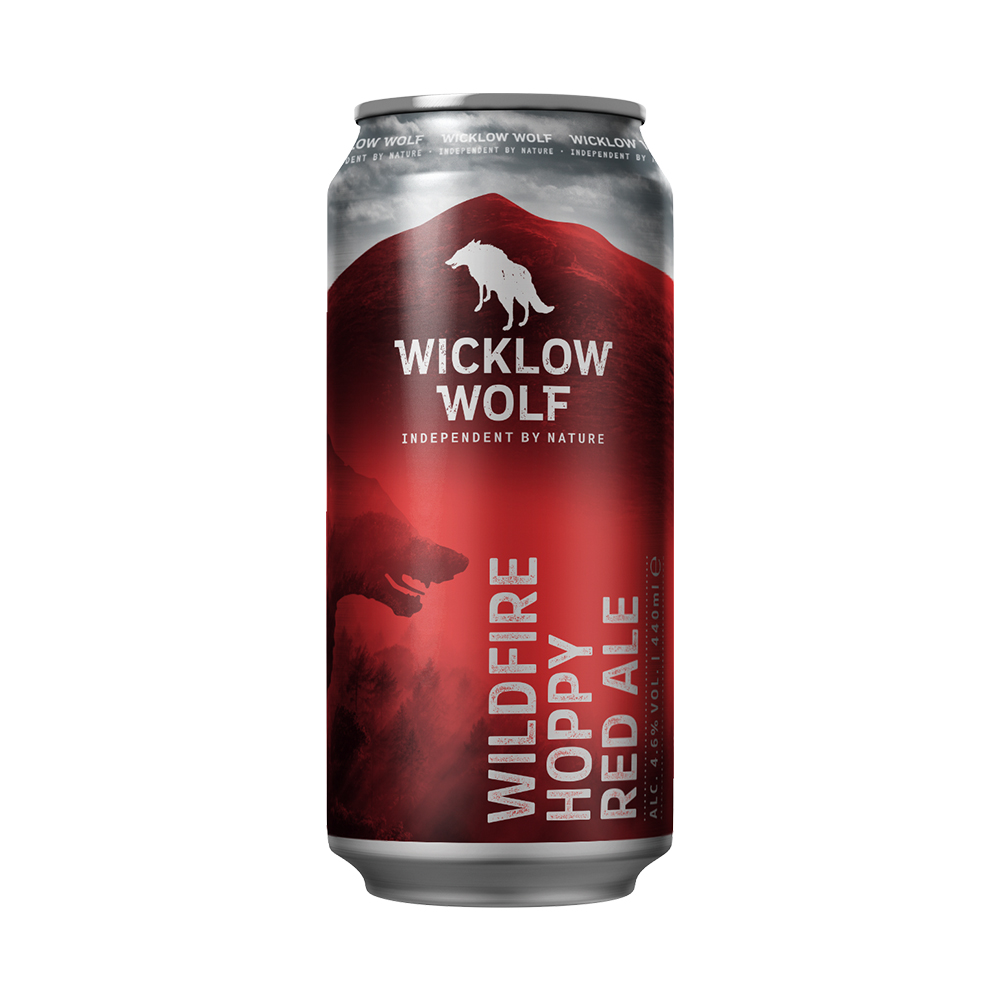 Wicklow Wolf Wildfire Hoppy Red Ale 440ml Can