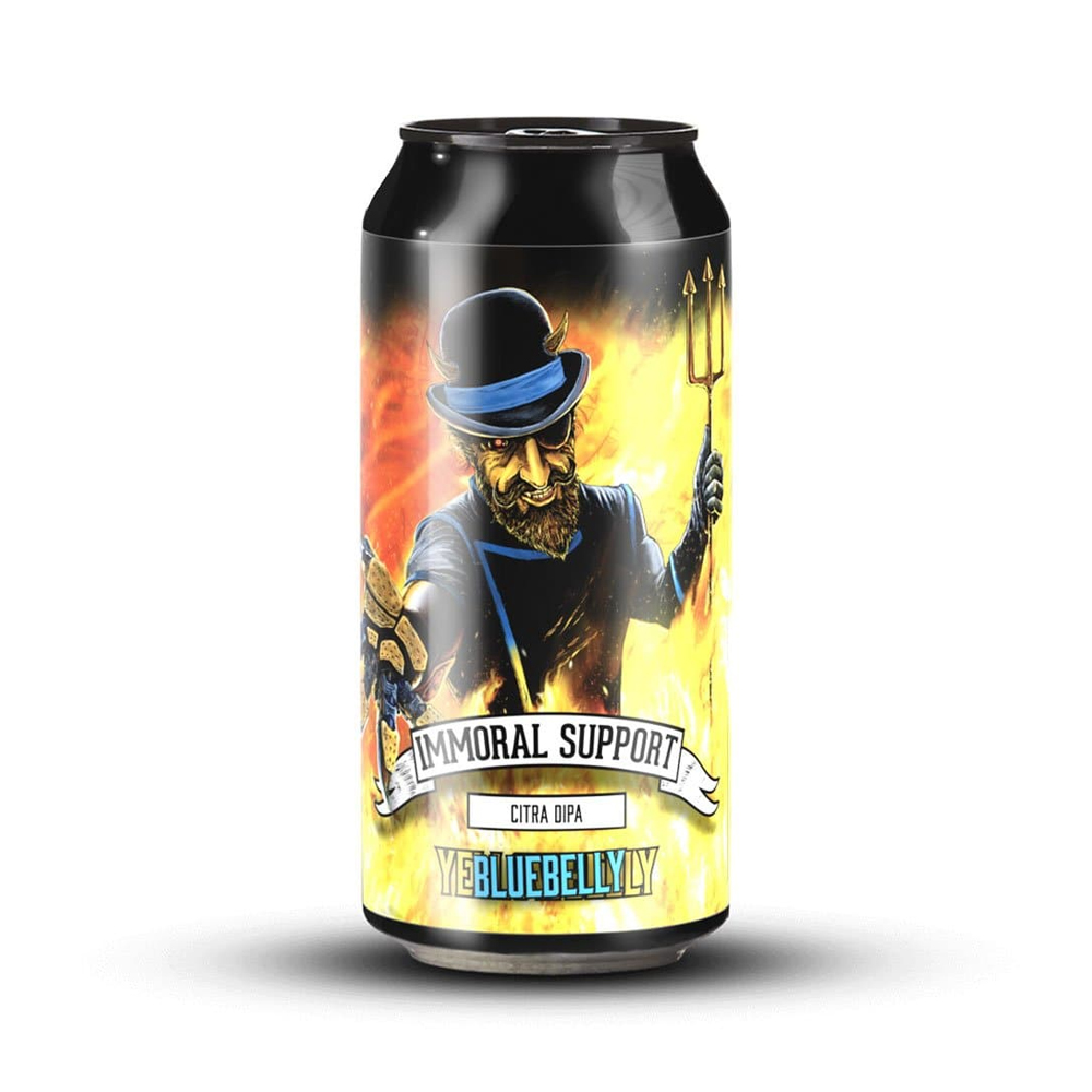 Yellowbelly Immoral Support DIPA 440ml