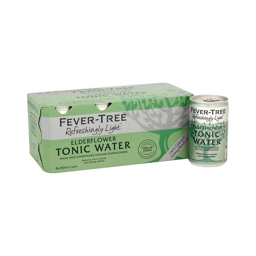 Fever-Tree Elderflower Tonic Water 150ml 8-Pack