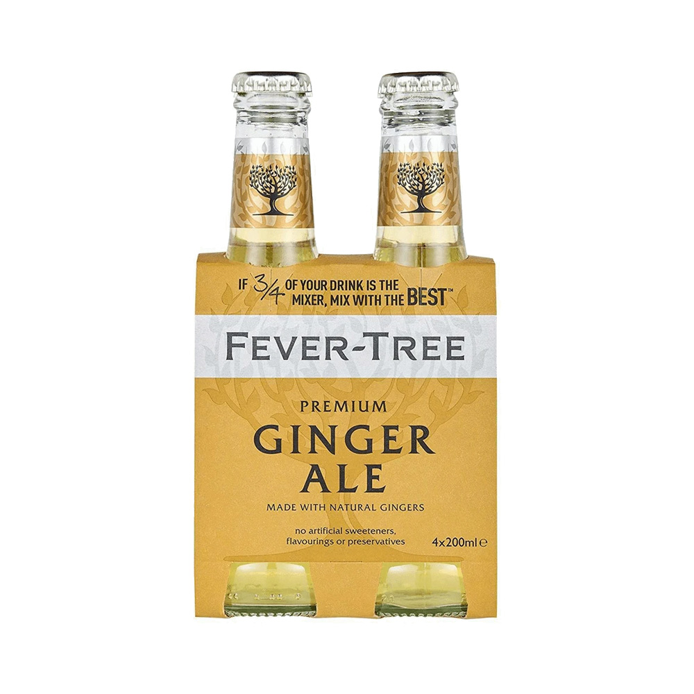 Fever-Tree Ginger Ale 200ml 4-Pack