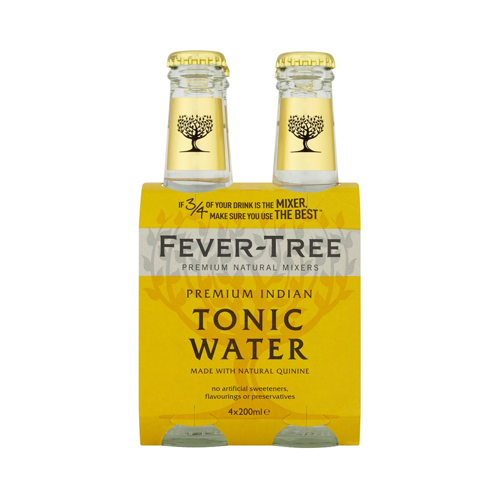 Fever-Tree Indian Tonic Water 200ml 4-Pack