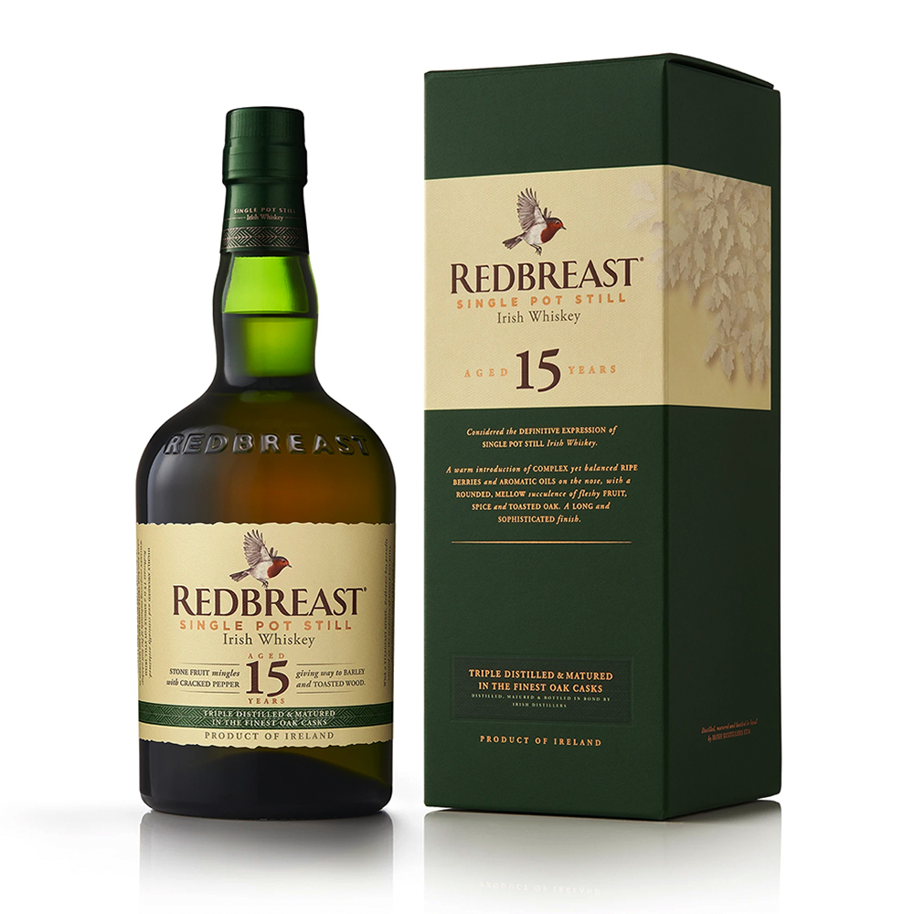 Redbreast 15 Year Old Pure Pot Still Irish Whiskey 700ml