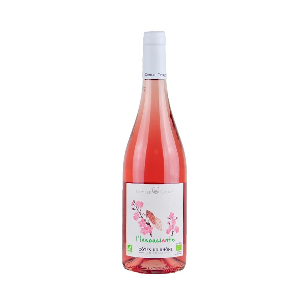 Camille Cayran L'Insouciante Organic Rosé Cotes du Rhone